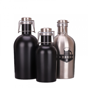 64oz Double Wall Vacuum Insulated Stainless Steel Beer Growler