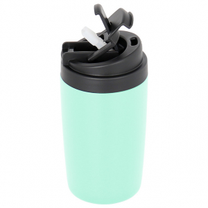 Double wall insulated tumbler with straw lid