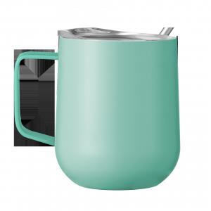 Eco Friendly Vacuum Insulated 350 ml Stainless Steel Travel Tumbler Wine Cup vacuum Coffee Handle Mug