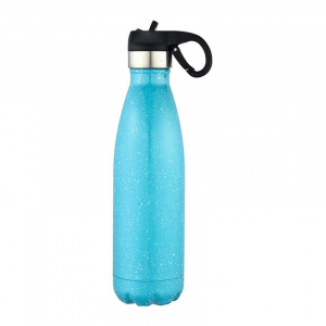 Cola Shape Thermos Stainless Steel Vacuum Water Bottle  With Handle Lid